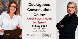 Online, Courageous Conversations: Quick Fixes and Need For Speed @ Online