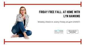 Online, Friday Free Fall: At Home with Lyn Hawkins @ Online