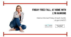 Online, Friday Freefall: At Home with Lyn Hawkins @ ONLINE