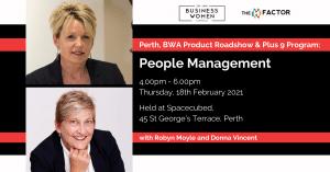Perth, BWA Product Roadshow & Plus 9 Program: People Management @ Spacecubed, Riff