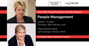 Perth, BWA Product Roadshow with step 9 Program: People Management @ Spacecubed, Riff