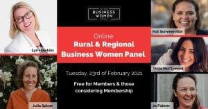 Online, Rural and Regional Business Women Panel @ ONLINE