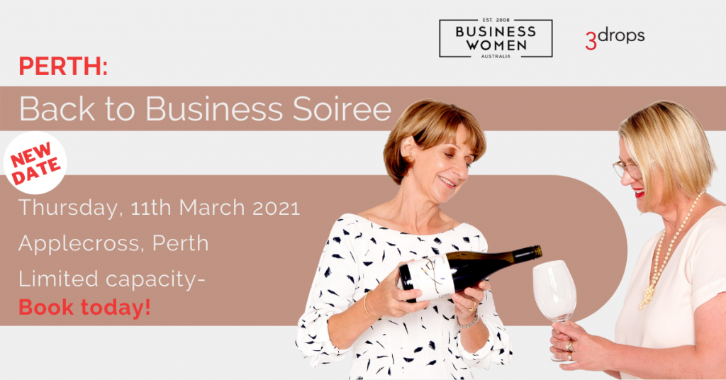 Back to Business Soiree with Business Women Australia Perth 11 March
