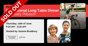 Perth, BWA: Inspirational Long Table Dinner with Sally Pilbeam @ The Cooking Professor