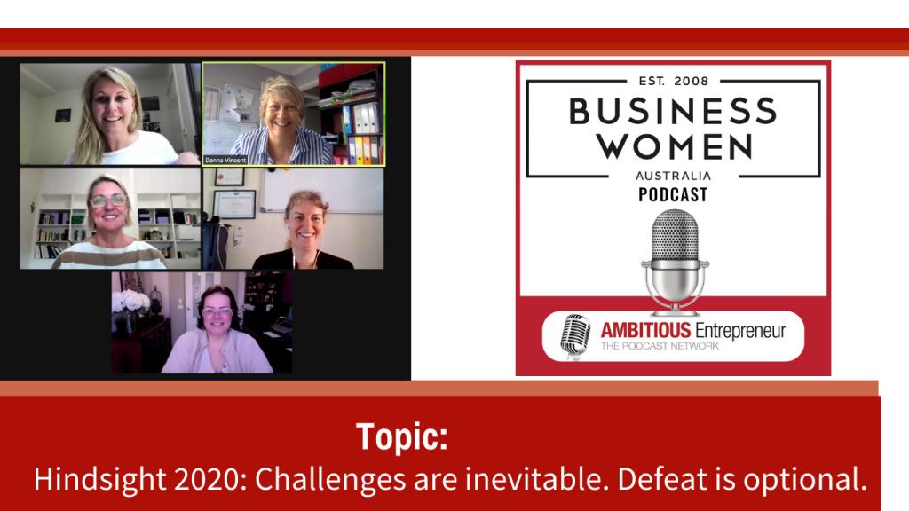 Hindsight 2020 BWA Leadership - Jessica Schubert, Donna Vincent, Lyn Hawkins, Cathy Smith