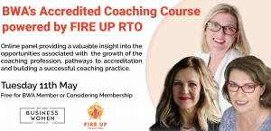 Business Women Australia: Coaching Business Q&A with FIRE UP Coaching (RTO) @ ONLINE