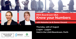 BWA, Perth, Boardroom Q&A: Know your Numbers @ LG Accounting Solutions