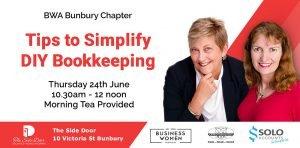 Bunbury, Business Women Australia: Tips to Simplify DIY Bookkeeping @ The Side Door
