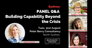 Sydney, Panel Q&A: Building Capability Beyond the Crisis @ Peter Berry Consultancy