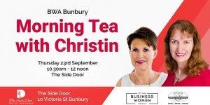 Bunbury, BWA: Morning Tea with Christin @ The Side Door