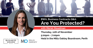 Perth, BWA, Business Contracts: Are You Protected? @ Mills Oakley